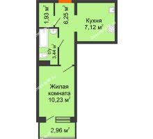 Студия 30,58 м², ЖК 9 Ярдов - планировка