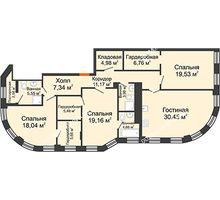 4 комнатная квартира 150,2 м² в ЖК Плотничный, дом № 2 - планировка