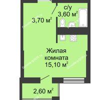 Студия 23,9 м², ЖК Сказка - планировка