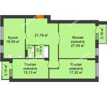 Студия 109 м², ЖК Сергиевская Слобода - планировка