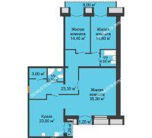 3 комнатная квартира 126,98 м², Жилой дом: г. Дзержинск, ул. Кирова, д.12 - планировка