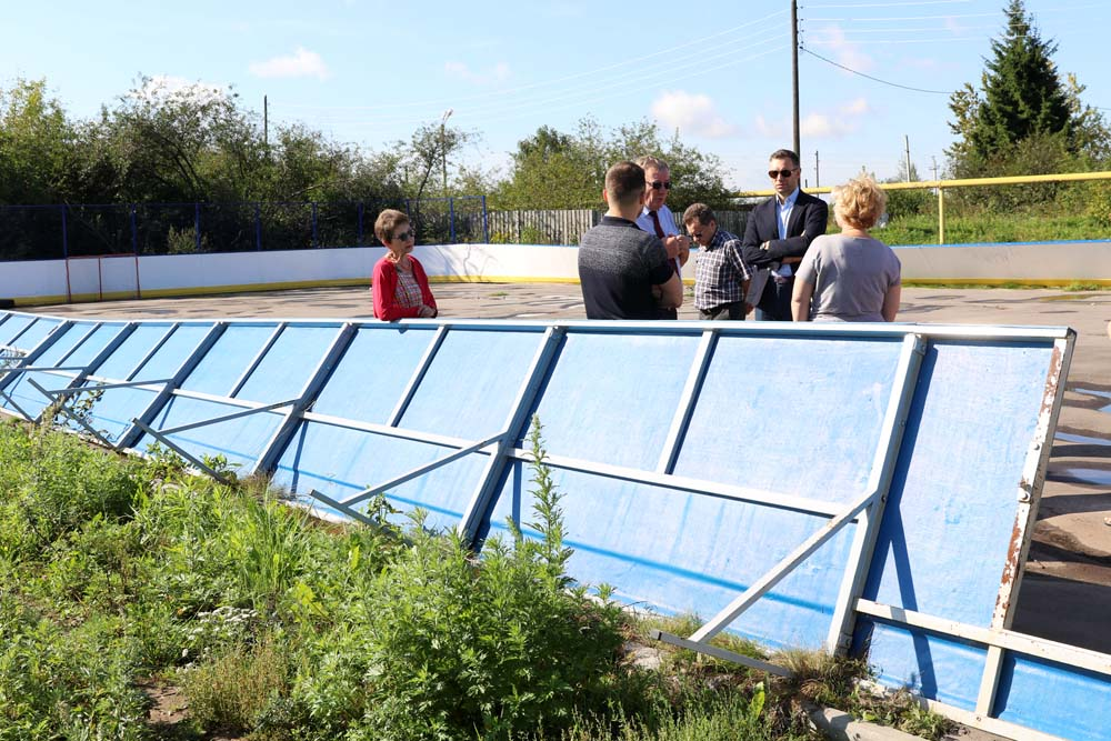 Спортивные объекты в деревнях Мордвинцево и Ольгино по программе местных инициатив построены с дефектами
