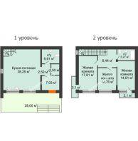3 комнатный таунхаус 115 м² в Клубный посёлок Панорама, дом Гангутская, 1 (таунхаусы 115м2) - планировка
