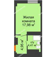 Апартаменты-студия 27,34 м², Апарт-Отель Гордеевка - планировка