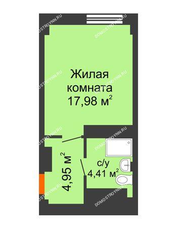 Студия 27,34 м² - Апарт-Отель Гордеевка