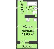 Студия 19,1 м² в ЖК Корабли, дом № 11 - планировка